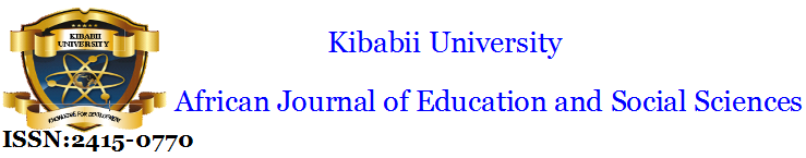 Kibabii University African Journal of Education and Social Sciences